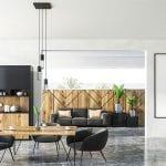 Spacious modern break room design