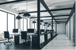 A minimalist type of office that needs improvement