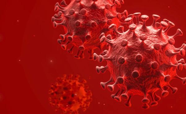 Coronaviruses influenza concept