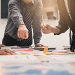 Business team brainstorming